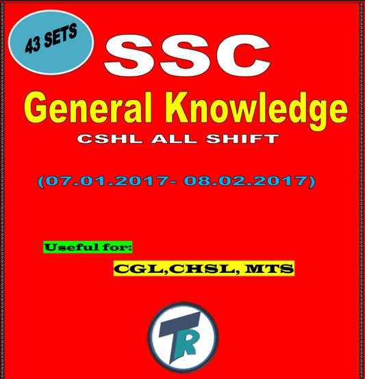 SSC GK Papers 2017 All Shift PDF Free Download