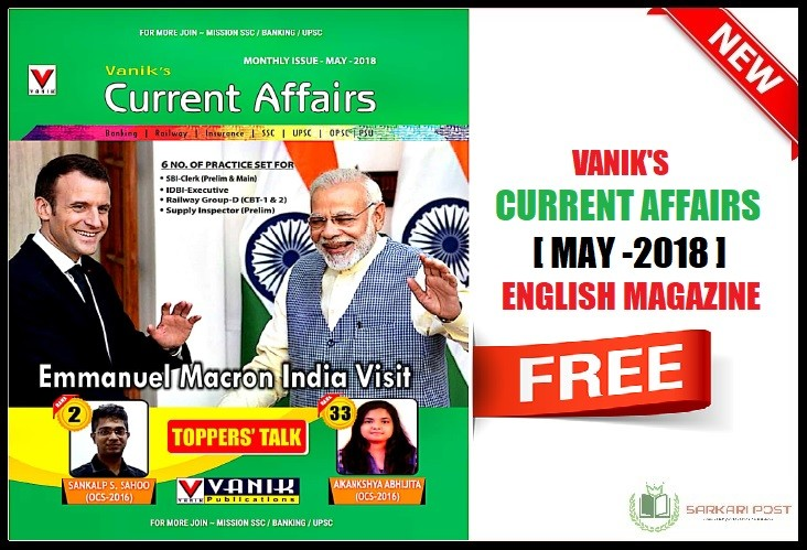Vanik Current Affairs May 2018