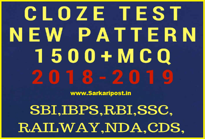 Cloze Test New Pattern English 1500+ MCQ For Competitive Exams