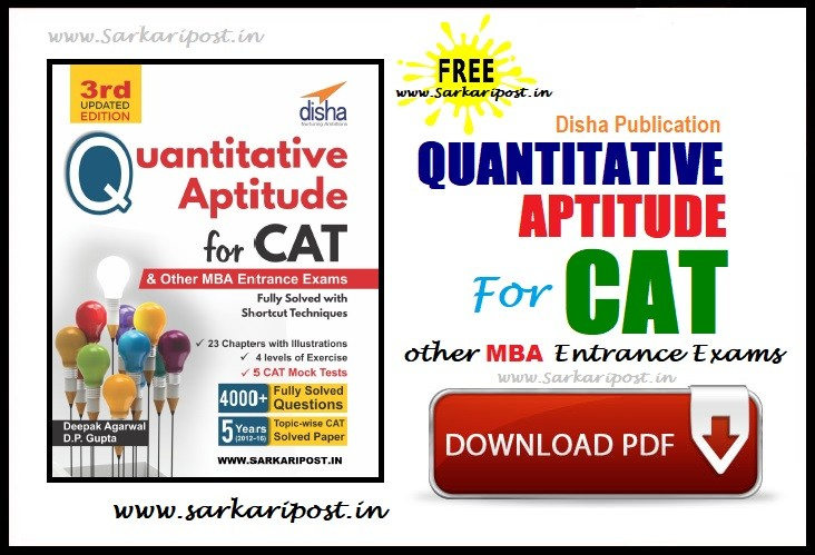 Quantitative Aptitude for CAT 3rd Edition