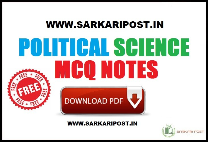 Political Science MCQ Notes