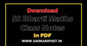 S.S Bharti Maths Class Notes