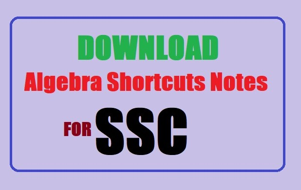 Download Algebra Shortcuts Notes