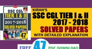 Latest Kiran SSC CGL Solved Papers Set Pdf