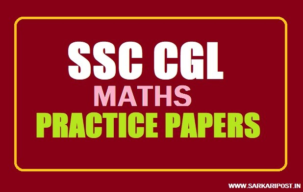 SSC CGL Maths Practice Papers Set Book Pdf Download