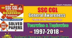 Kiran SSC CGL General Awareness Pointers Solved Papers Pdf