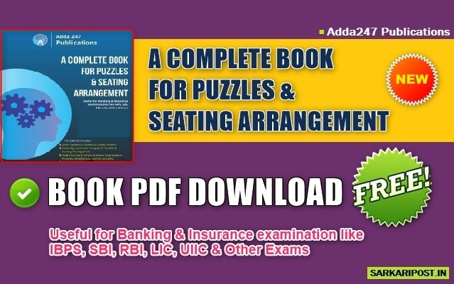 Puzzles and Seating Arrangement Book