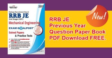 RRB JE Previous Year Question Paper Book PDF
