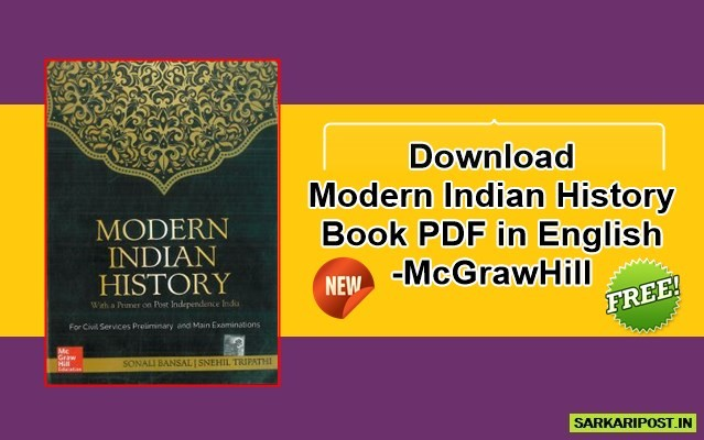 Modern Indian History Book PDF