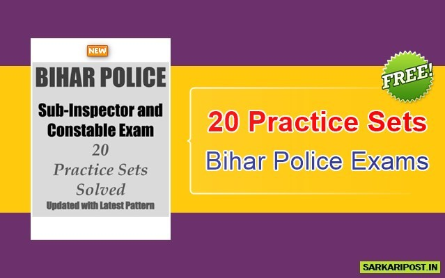 20 Practice Sets for Bihar Police Exams Book Pdf …