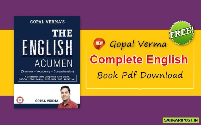 Gopal Verma Complete English Book Pdf