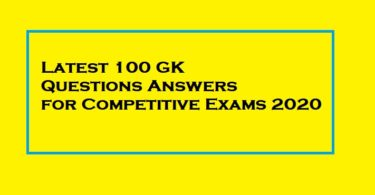 GK Questions Answers